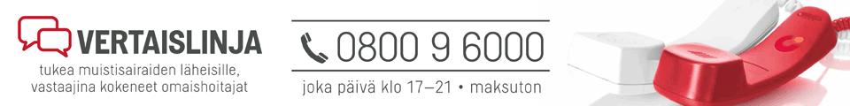 Vertaislinja-tukipuhelin tarjoaa kuuntelevan korvan omaishoitajan arjen tilanteisiin vuoden jokaisena päivänä (klo 17-21) numerossa 0800 9 6000 (maksuton). Puheluihin vastaavat kokeneet ja koulutetut omaishoitajat.